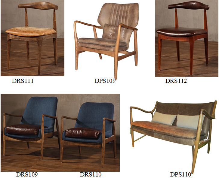 Solid wood mid century style dining chair with vintage for Dining chair styles names
