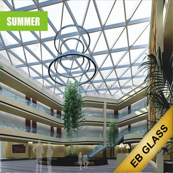 Opaque temperature control dimming/smart glass in summer, EB GLASS
