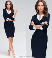 NEW Fashion Design Women Casual Dress Knitted three quarter Lady Clothing