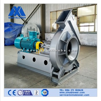Free standing materials delivery axial centrifugal fan for bricks kiln