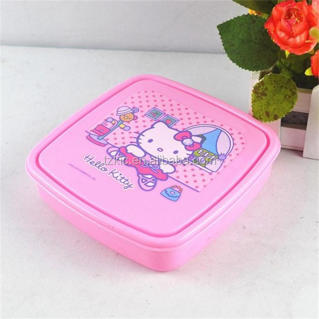 Portable Cute Plastic Lunch Box Storage Boxes