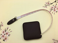 China wholesale pu leather flexible tape measure small size