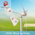 1kw off-grid single tail efficient better use wind turbine factory