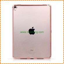 Hot selling electroplate Clear Transparent soft tpu case for Ipad Air 2