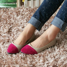 Wholesale cheap Stitching color PU cusp moroccan shoe woman