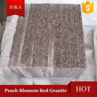 Peach Blossom Red Granite Blocks