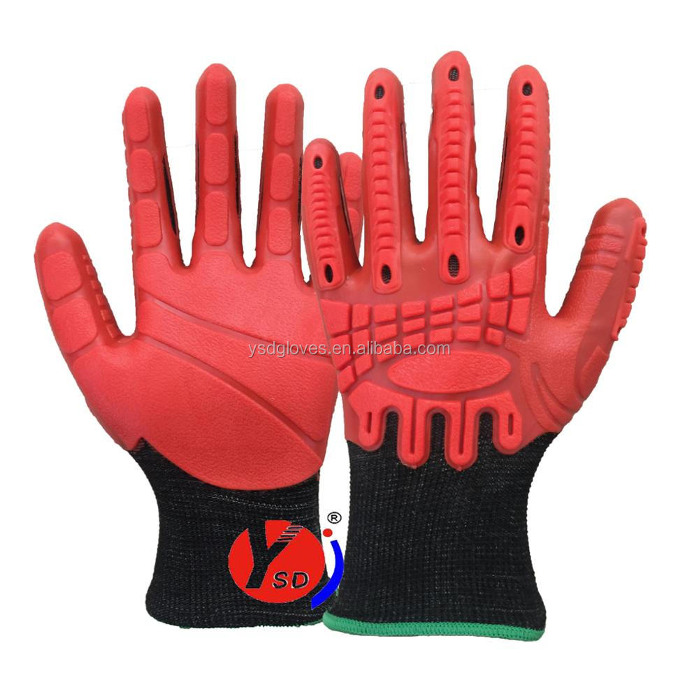 Super Gripping gloves 2017 New Material TPE gloves working gloves TPE injection