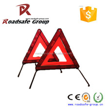 Plastic Red color reflective warning cheap safety triangle warning