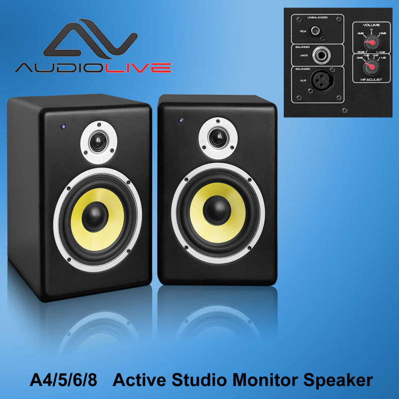 home theater music system 4 inch / 5 inch/6 inch/ 8 inch active studio Monitor speaker