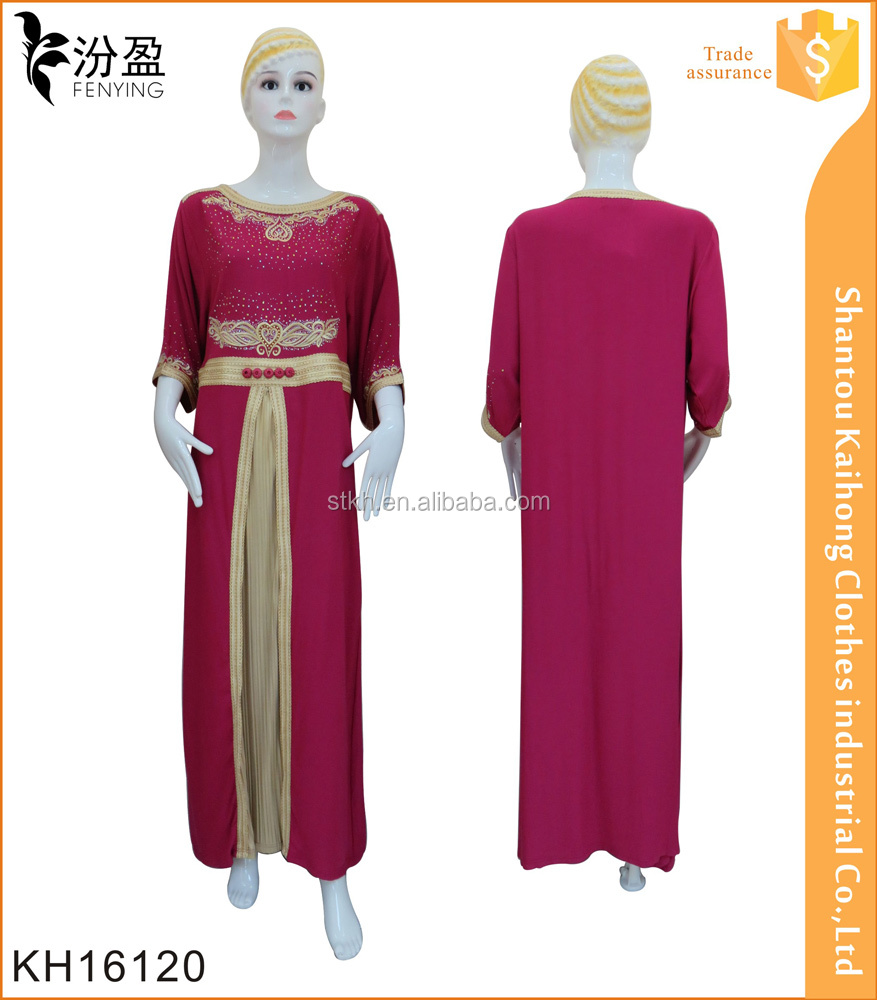 fashion design abaya wedding maxi dress with embroidery and hot drellings