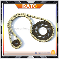 High performance motorcycle chain and sprocket sets kits