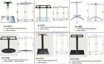 stainless steel table base for restaurant table catering industry table