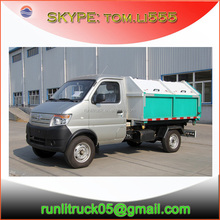 China refuse truck manufacture for changan SC1022DB4N 2500wheelbase 4*2 0.5m3 petrol garbage truck for sale