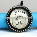 black clear stones fashion glass memory lockets