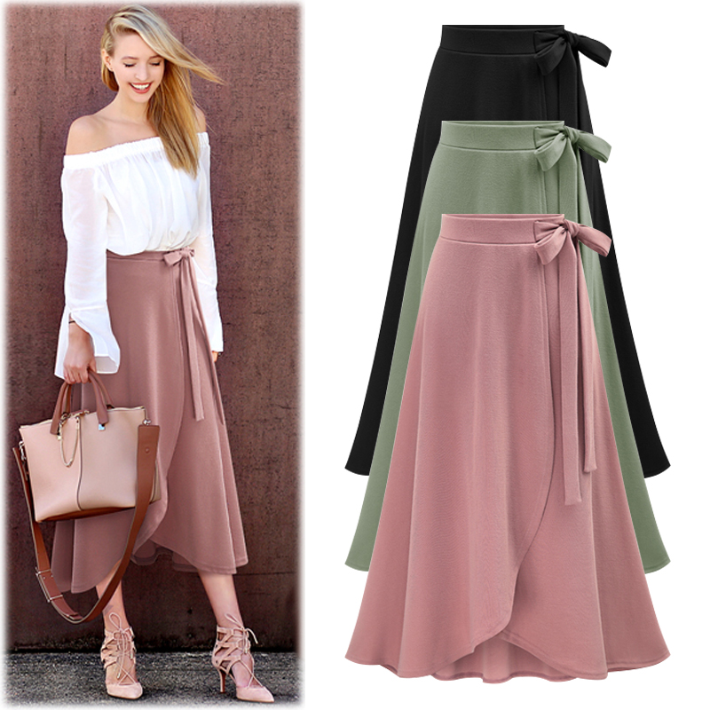 Professional clothing manufacturer design high quality woman plus size midi skirt