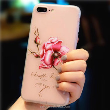 Competitive price new design beatiful flower simple soft 3D silicone cell phone case for iphone 8