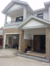 Two Floors Double Sloping Prefabricated Vila Townhouse
