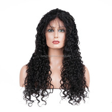 Wholesale cheap 150% density 8A unprocessed brazilian kinky curly 100 human hair full lace wigs with baby hair