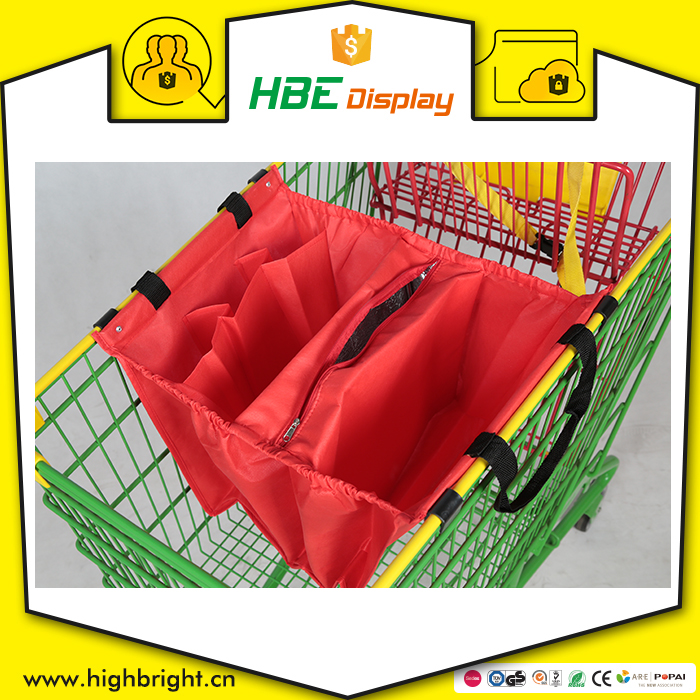 wholesale cheap luxury custom reusable foldable plastic vegetable shopping trolley bag