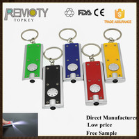 Cheap mini flashlight led key chains ring with custom logo