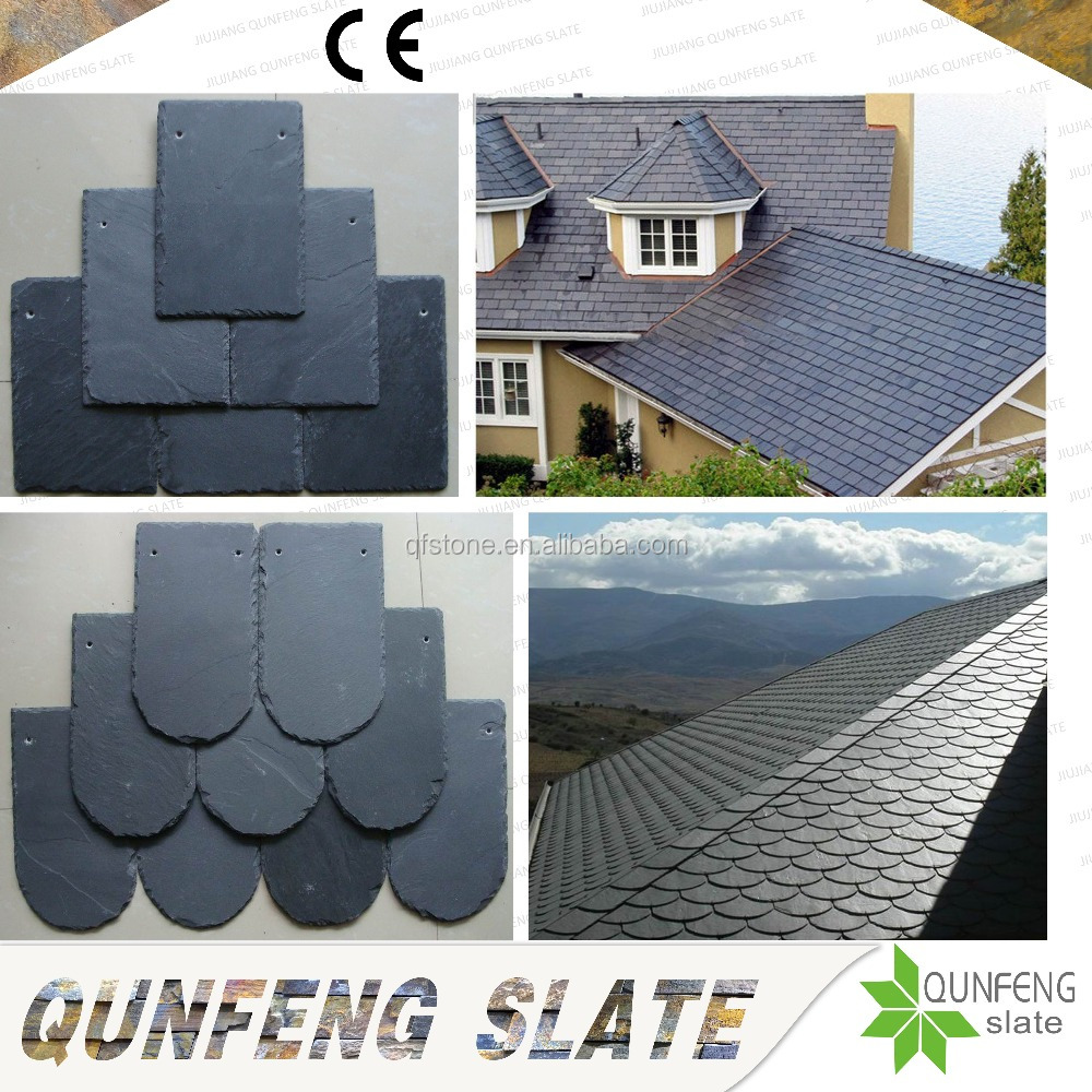 CE Passed Antacid Chinese Cheap And Thin Nature Stone Tile Black Roofing Slate