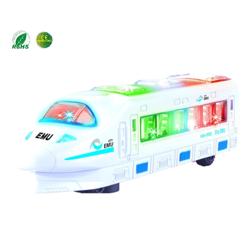 Dongguan OEM/ODM Toy Factory New Plastic Lighting Electric mini Train Toy With Music and Light