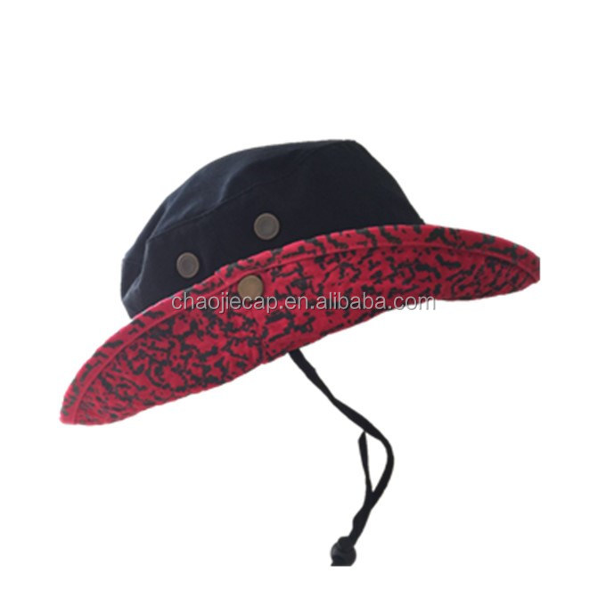 Fashion fishing bucket cap hat with string