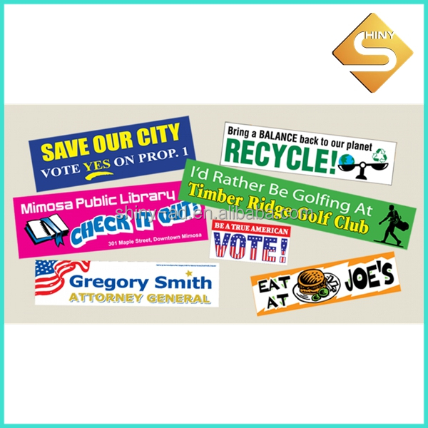 digital printing bumper stickers
