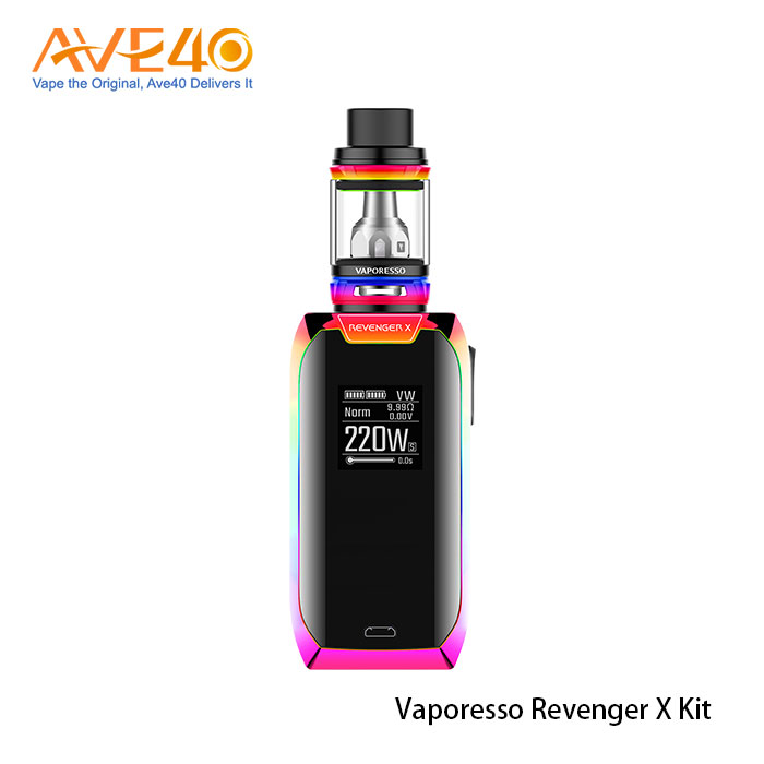2017 Hot selling Vaporesso Revenger X kit vape with NRG mini 2ML Tank
