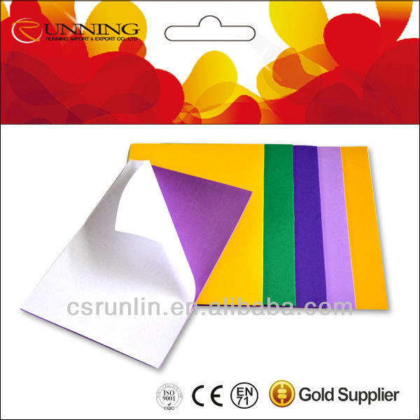 EVA Sticker /EVA self adhesive film /EVA Foam sheet