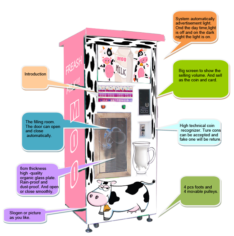 FRESH MILK ATM MACHINE SELLING MILK MACHINE