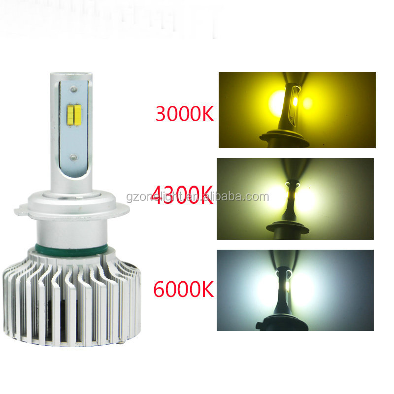 Onelight T5plus automotive led headlight hid car kit three color 6000K 3000K 4300K for golf