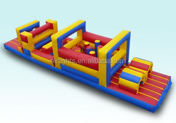 top quality inflatable obstacles, outdoor giant inflatable race obstacle course new product