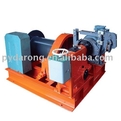 electric wire rope worm winch