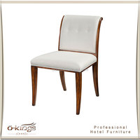 hotel bedroom solid wood writing chair, arm chair for writing desk