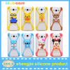 Alibaba hot selling high quality creative phone case silicone funny cartoon cell phone accessories