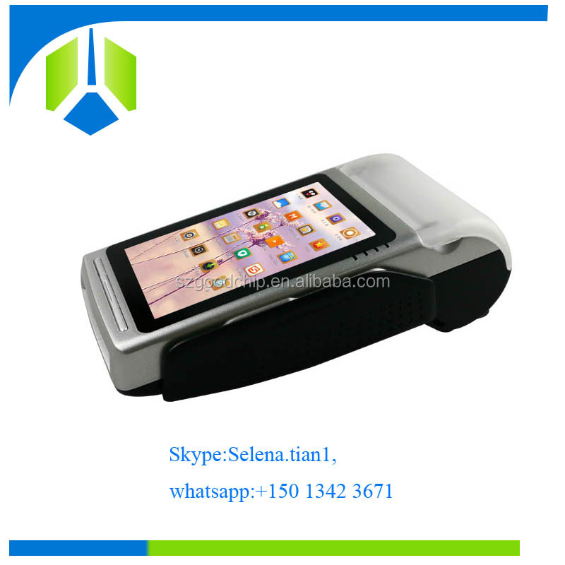 Newest design 4 inch touch screen barcode pos system with Smart IC/Contactless/Magnetic stripe card reader-----Gc068