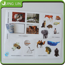 Waterproof transparent self adhesive animal sticker for kids