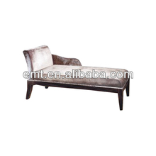 Wood baroque chaise lounge (EMT-LC03)