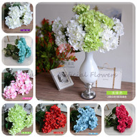 140510 pink red white blue yellow purple color OEM flower factory direct china cheap wholesale artificial hydrangea flowers
