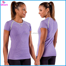 slim fit dry fit sports t shirt workout clothing womens seamless t shirt