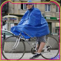 S491 printed transparent folding raincoat