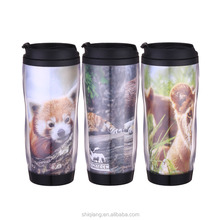12oz 350ml DIY starbuck shape coffee travel mug tumblers with paper insert