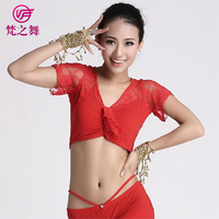 S-3035 Cheap wholesale crystal cotton belly dance lace top for women