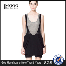 MGOO Casual Vintage Clothing Dress Rompers Women Custom OEM Knitted Black Short Dress Women Casual Sleeveless Dress D103