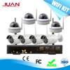 Dome Wireless Kit 8CH Dome 1.3MP NVR KIT Signal Range 300 Meters Across 4 Wall With Outdoor Camera