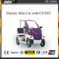 Mini electric car 2 to 3 passengers with cooler USB CE EEC Certification