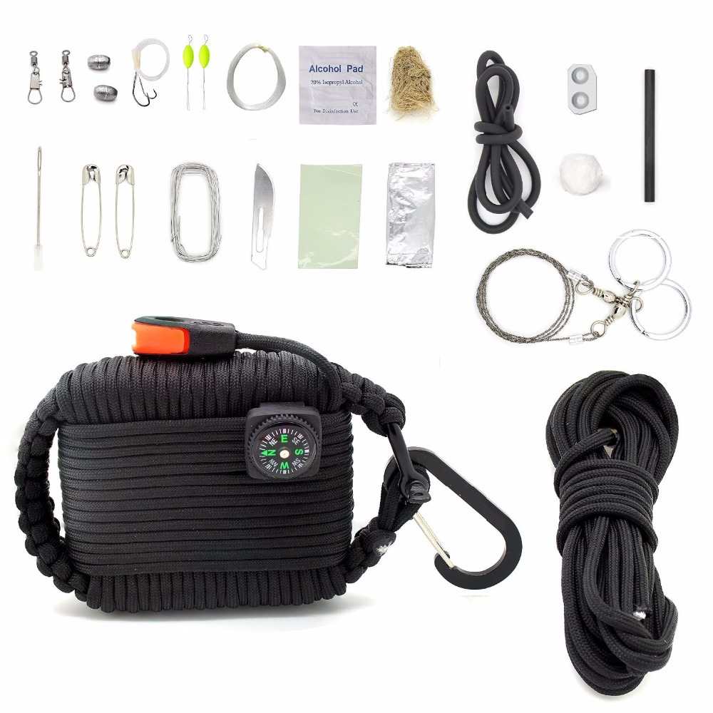 Equipments Paracord Deluxe Grenade Survival Kit