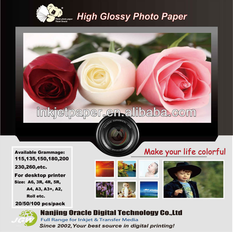size of 3r photo paper for art work,photo paper white color