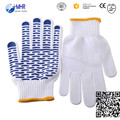 2016 softtextile pvc dotted glove/pvc glove/glove safety points pvc